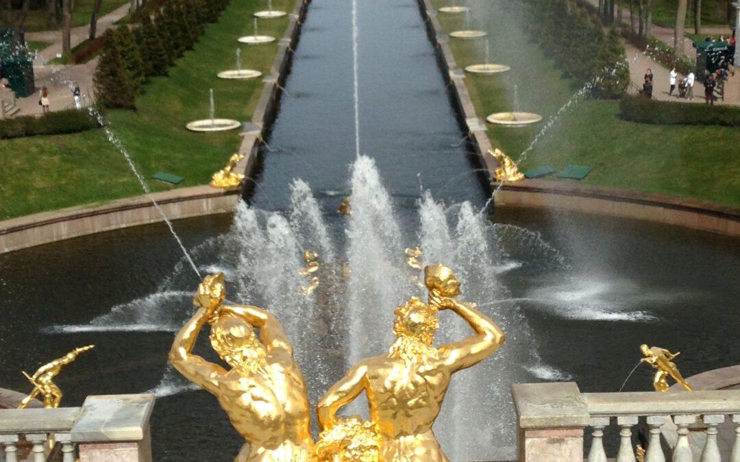 "Teilnahme an der Buchpräsentation ""Peterhof. Gody vojny"""